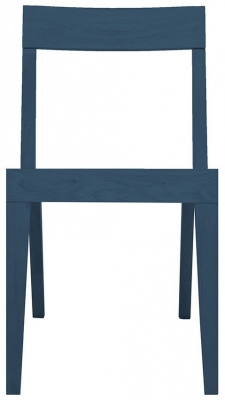 Cubo Blue Dining Chair with Wooden Seat
