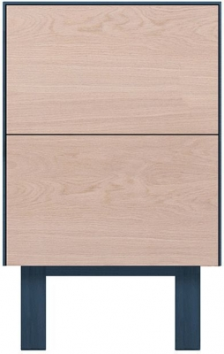Cubo Blue Side Table 2 Drawers