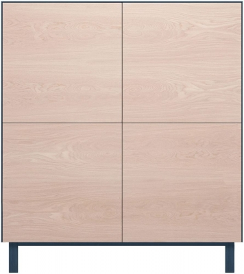 Cubo Blue Square Cabinet 4 Doors