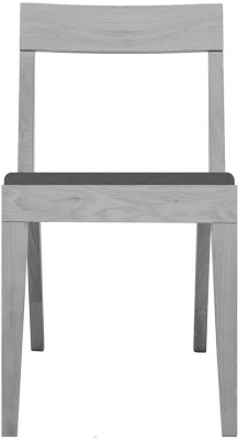 Cubo Grey Dining Chair with Dark Grey Upholstered Seat Pad