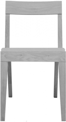 Cubo Grey Dining Chair with Light Grey Upholstered Seat Pad
