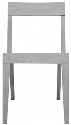 Cubo Grey Dining Chair with Wooden Seat