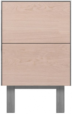 Cubo Grey Side Table 2 Drawers