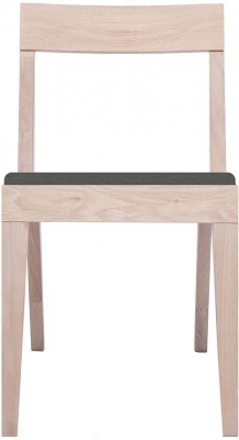 Cubo Oak Dining Chair with Dark Grey Upholstered Seat Pad