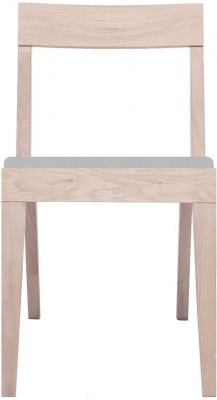 Cubo Oak Dining Chair with Light Grey Upholstered Seat Pad