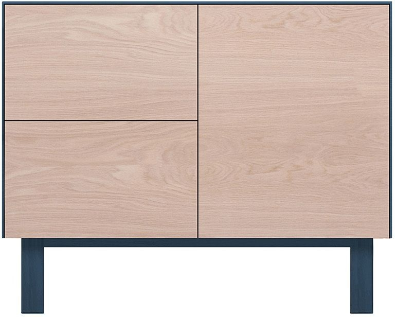 Cubo Blue Sideboard 1 Door and 2 Drawers