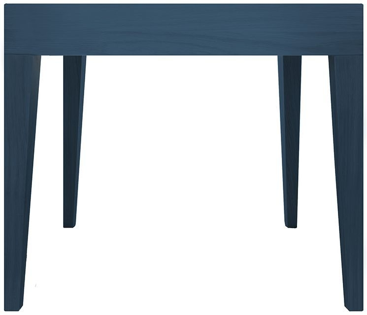 Cubo Blue Square Dining Table without Drawer