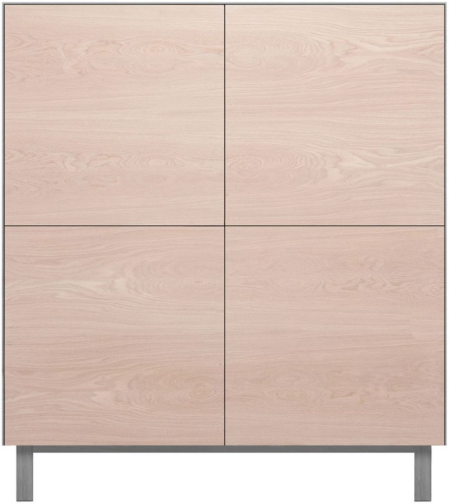 Cubo Grey Square Cabinet 4 Doors