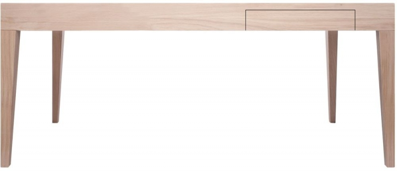 Cubo Oak Rectangular Dining Table with Drawer