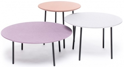 Lago Fabric Tables Misty Rose, Grey Chine and Parma Chine (Set of 3)