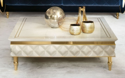 Arredoclassic Adora Sipario Italian Cream Coffee Table