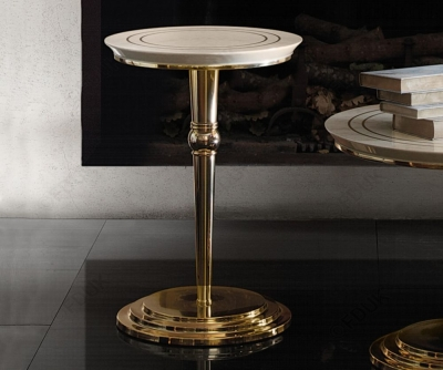 Arredoclassic Adora Sipario Italian Cream End Table - 50cm