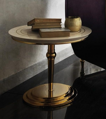 Arredoclassic Adora Sipario Italian Cream End Table - 65cm