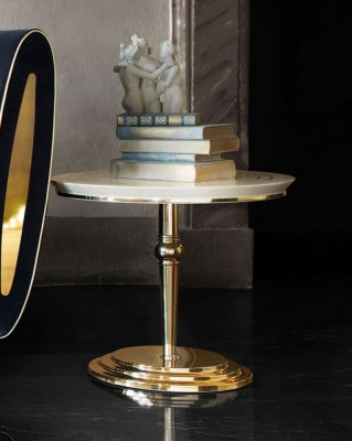 Arredoclassic Adora Sipario Italian Cream Lamp Table - 50cm