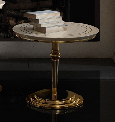 Arredoclassic Adora Sipario Italian Cream Lamp Table - 65cm