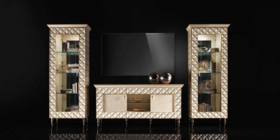 Arredoclassic Adora Sipario Italian Cream 4 Door TV Set Composition