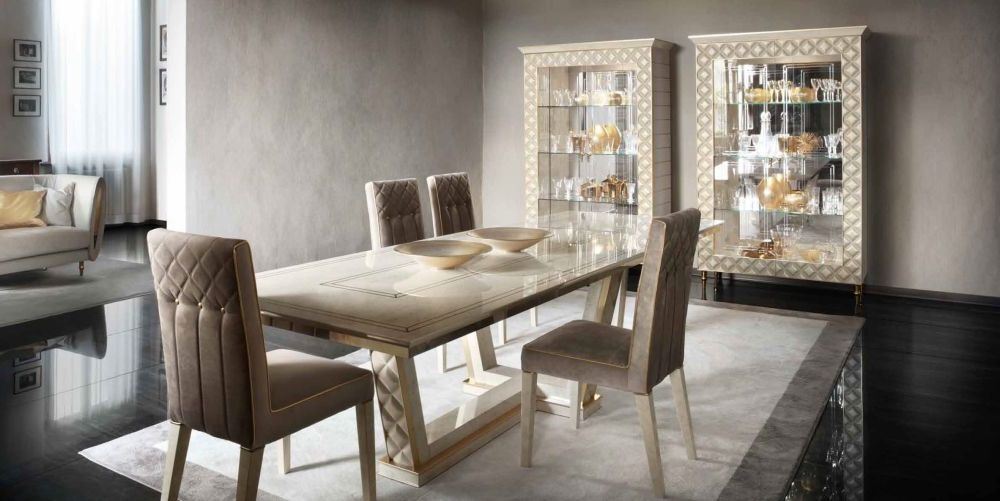 Arredoclassic Adora Sipario Italian Cream Dining Table - 200cm-300cm Rectangular