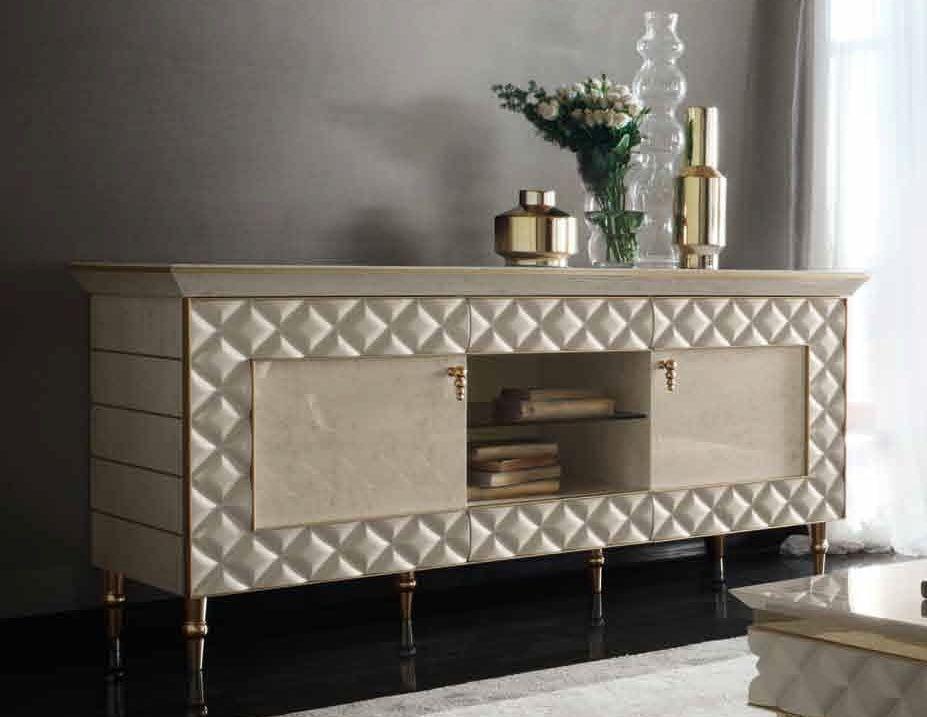 Arredoclassic Adora Sipario Italian Cream TV Cabinet - 2 Door