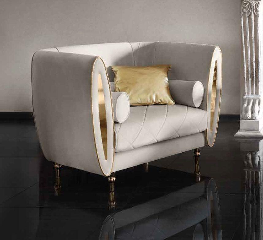 Arredoclassic Adora Sipario Italian Fabric 1 Seater Armchair
