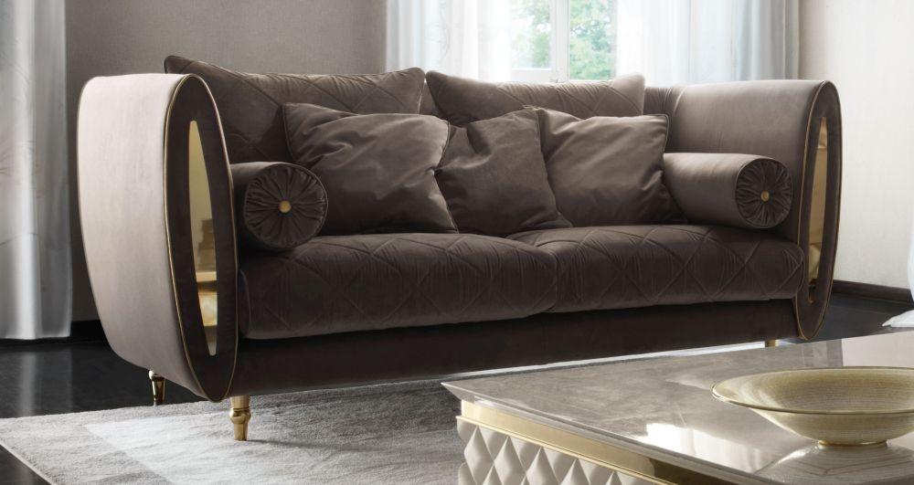 Arredoclassic Adora Sipario Italian Fabric 2 Seater Sofa