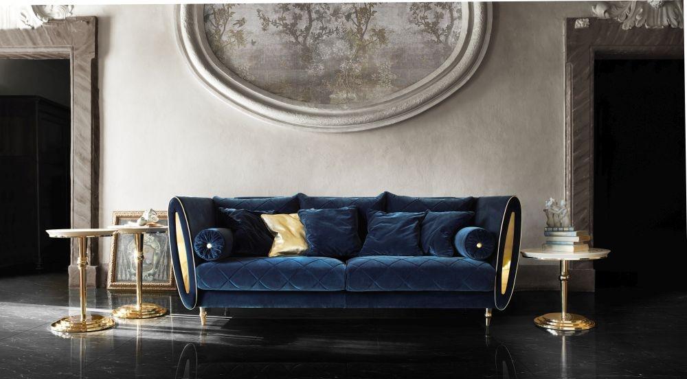 Arredoclassic Adora Sipario Italian Fabric 3 Seater Sofa