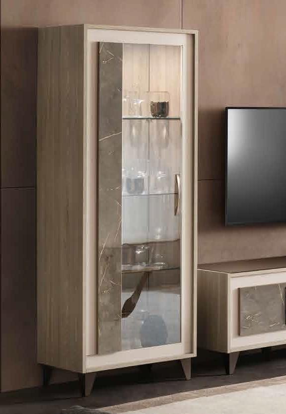 Arredoclassic Ambra Italian 1 Left Door Display Cabinet