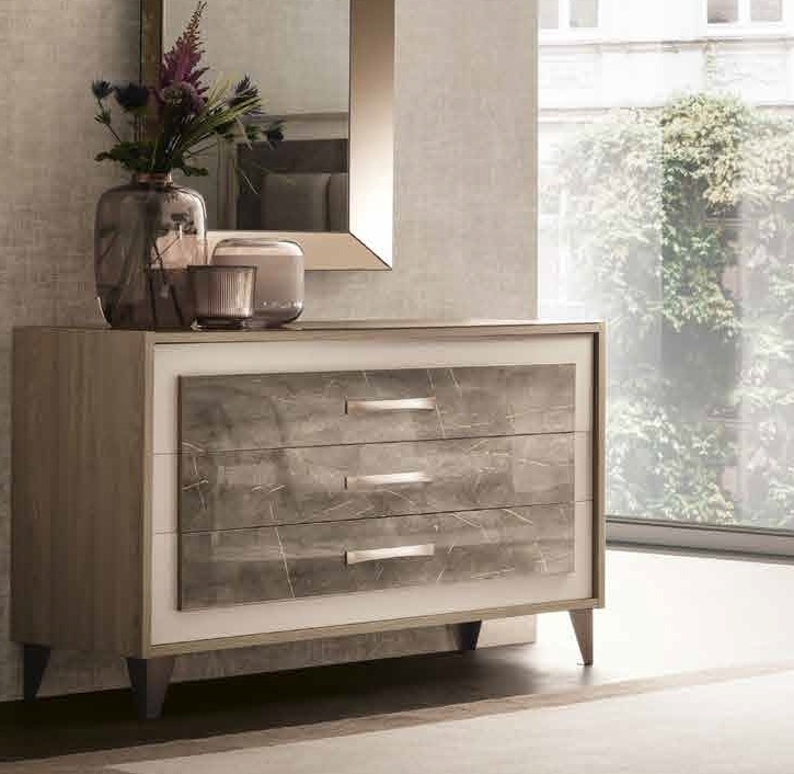 Arredoclassic Ambra Italian 3 Drawer Dresser