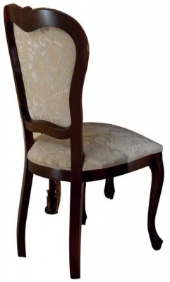 Arredoclassic Donatello Brown Italian Fabric Dining Chair (Pair)