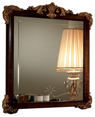 Arredoclassic Donatello Brown Italian Rectangular Small Mirror