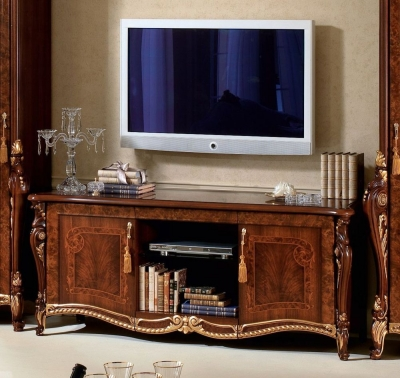 Arredoclassic Donatello Brown Italian 2 Door TV Cabinet