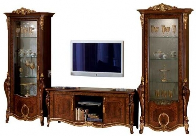 Arredoclassic Donatello Brown Italian 4 Door TV Composition
