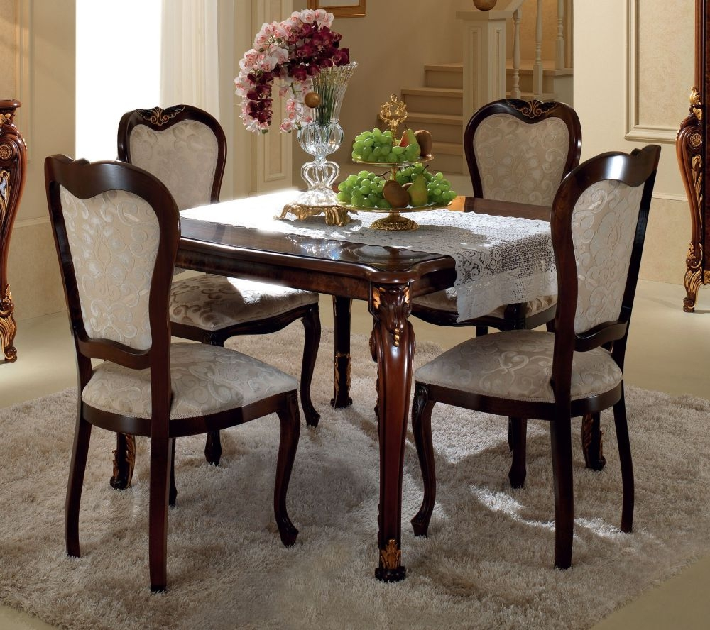 Arredoclassic Donatello Brown Italian Square Extending Dining Table - 118cm-158cm