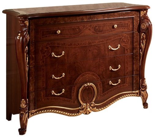 Arredoclassic Donatello Brown Italian 4 Drawer Dresser