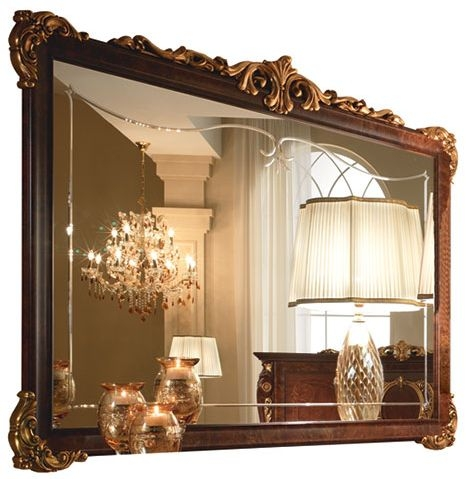 Arredoclassic Donatello Brown Italian Rectangular Large Mirror