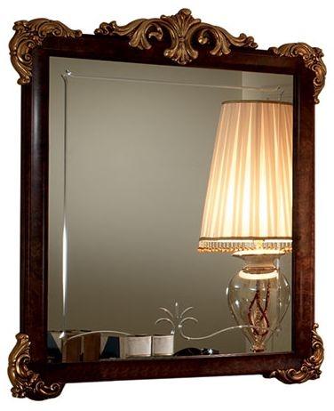 Arredoclassic Donatello Brown Italian Rectangular Small Mirror