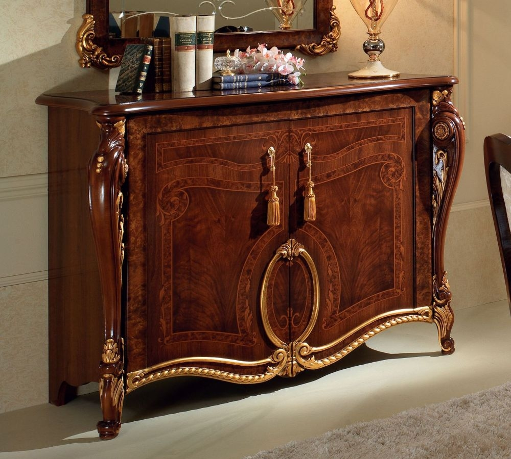 Arredoclassic Donatello Brown Italian 2 Door Narrow Sideboard