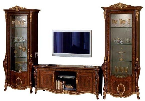 Arredoclassic Donatello Brown Italian 4 Door TV Composition