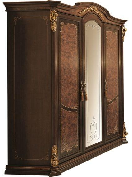 Arredoclassic Donatello Brown Italian 4 Door Wardrobe
