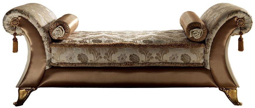 Arredoclassic Donatello Italian Fabric Vittoria Chaise Longue