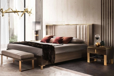 Arredoclassic Essenza Italian Bed with Upholstered Headboard