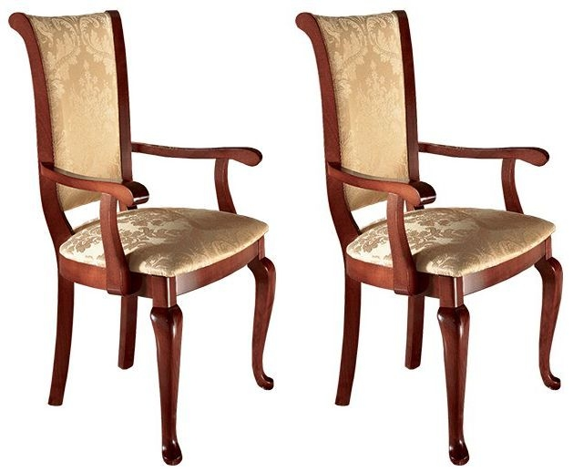 Arredoclassic Giotto Italian Fabric Dining Armchair (Pair)