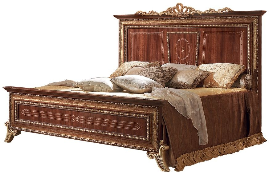Arredoclassic Giotto Walnut Italian Bed