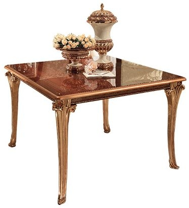 Arredoclassic Giotto Walnut Italian Dining Table - 118cm-115cm Square Extending
