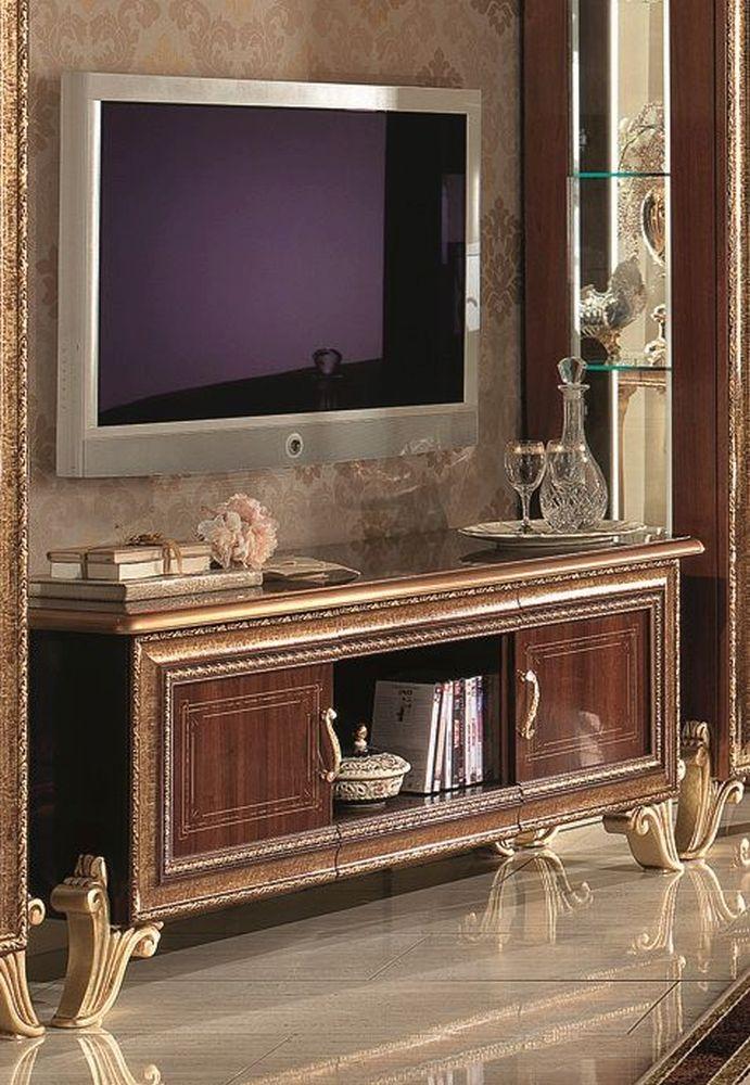 Arredoclassic Giotto Walnut Italian 2 Door TV Cabinet