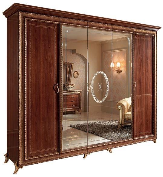 Arredoclassic Giotto Walnut Italian 5 Door Wardrobe