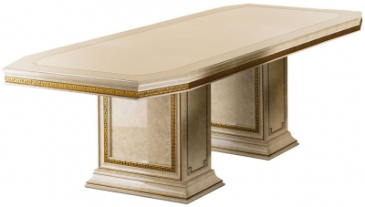 Arredoclassic Leonardo Golden Italian 200cm-300cm Rectangular Extending Dining Table
