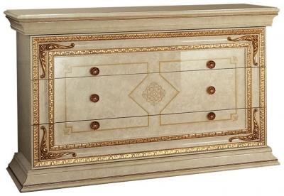 Arredoclassic Leonardo Golden Italian 3 Drawer Dresser