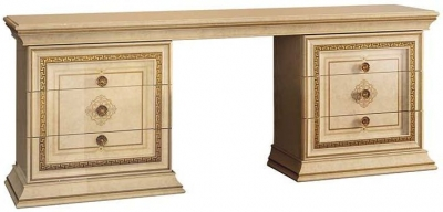 Arredoclassic Leonardo Golden Italian 6 Drawer Dressing Table