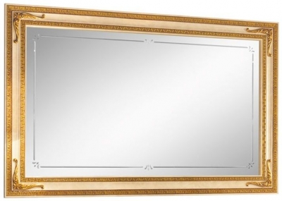 Arredoclassic Leonardo Golden Italian Rectangular Large Mirror