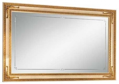 Arredoclassic Leonardo Golden Italian Rectangular Small Mirror